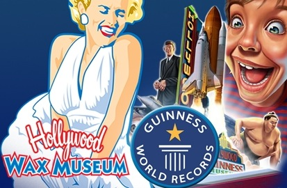 1 Adult and 1 Child Ticket to Hollywood Wax Museum and Guinness World Records Museum