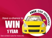Enter to Win 1 Year of Free Auto Insurance