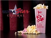2 Ultra Star Movie Tickets + Large Popcorn