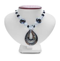Murano Glass and Crystal Pendant