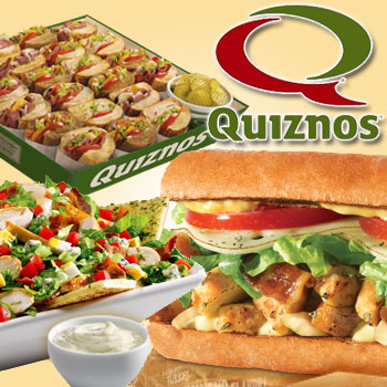 2 Quiznos Subs or Salads