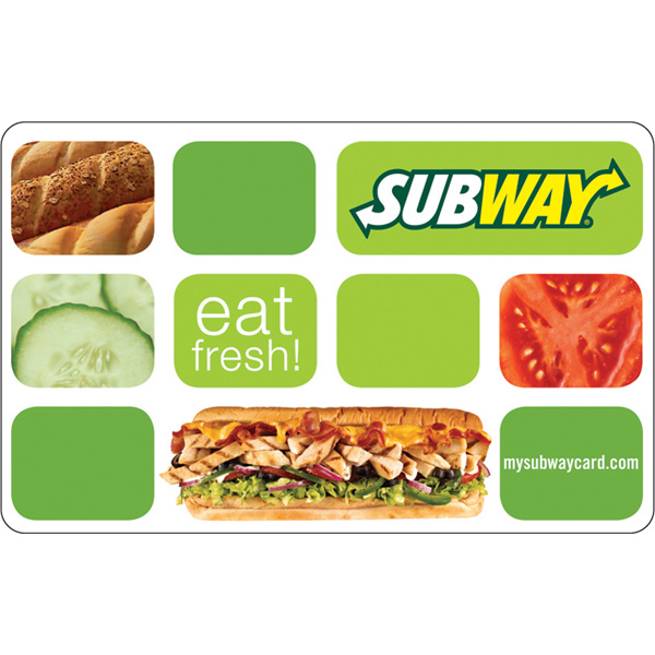 $6.50 for a $10 Subway Gift Card