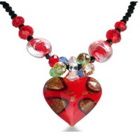 Red Heart Murano Glass Pendant