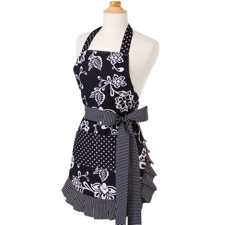 Single Layer Sassy Black Flirty Apron