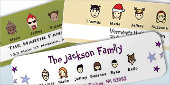 Holiday Caricature Address Labels