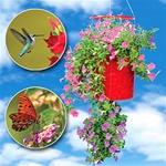 Topsy Turvy Hummingbird Hangout Planter