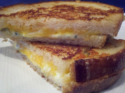 Bleu Cheddar Grilled Cheese
