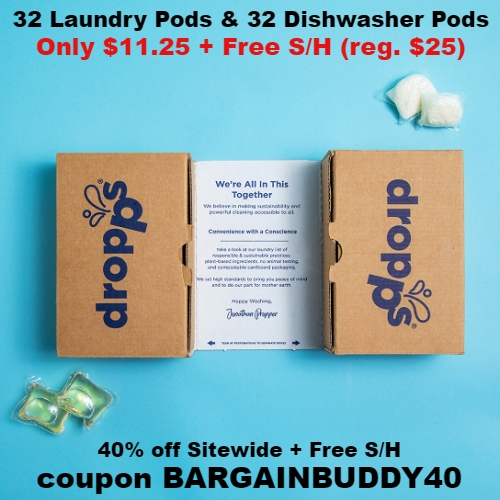 55% off 32 Fragrance-Free Laundry Pods & 32 Fragrance-Free