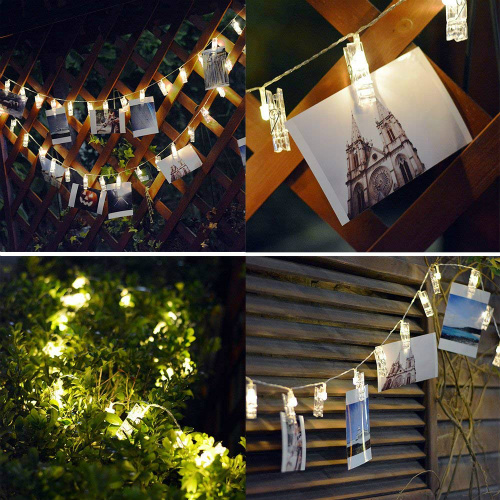 50% off LED Photo Clip String Lights : Only $8.99 + Free S/H