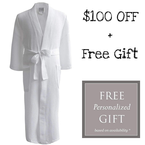 67% off Egyptian Cotton Resort Waffle Spa Robes : Only $49.16 + Free S/H