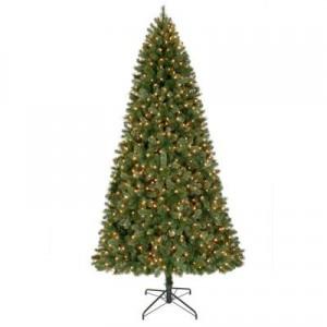 9' Pre-Lit Christmas Tree