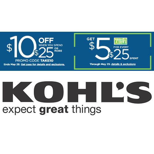 Kohl's : $10 off $25 Coupon