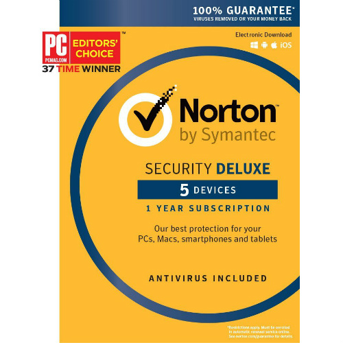 Norton Security Deluxe (5 Devices) : Only $19.99
