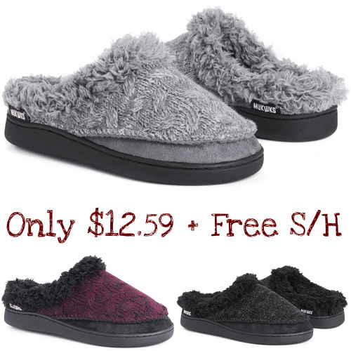 55% off Women's Muk Luks Slippers : Only $12.59 + Free S/H