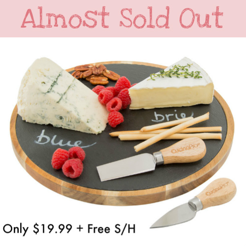 "50% off Lazy Susan ""Write On"" Cheese Plate : Only $19.99 + Free S/H"