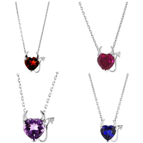 Devil Heart Pendants : $18 + Free S/H