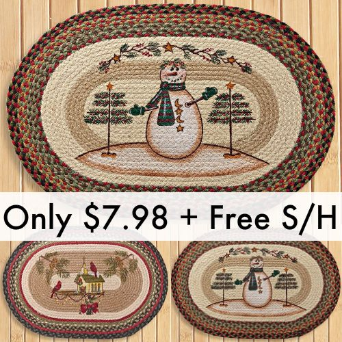 77% off Holiday Braid Rugs : Only $7.98 + Free S/H