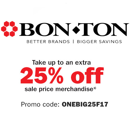 Bon-Ton : Extra 10-25% off Sale items + Free S/H on $25 or more