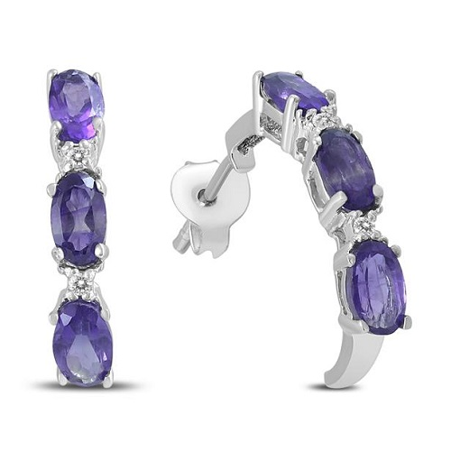 85% off Amethyst and Diamond Earrings : Only $18.49 + Free S/H