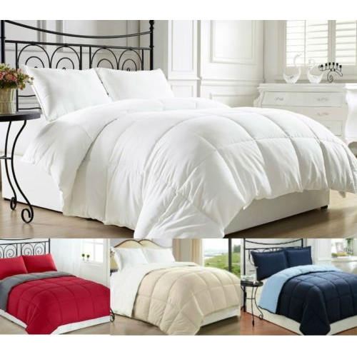 Down Alternative Reversible Comforters : $28.99 + Free S/H