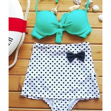 Retro High Waisted Swimsuits : $14.99