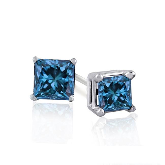 1 2ct Blue Diamond Earrings 99 S H Mybargainbuddy