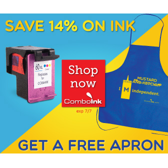 ComboInk : 14% off + Free Apron with any order