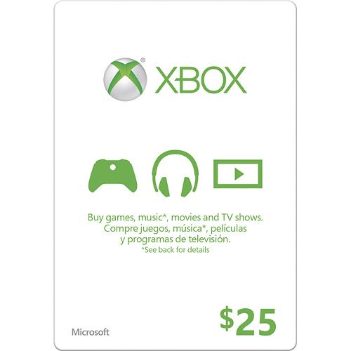 $25 Xbox Gift Card + $5 Digital Gift Card : $20 + Free S/H