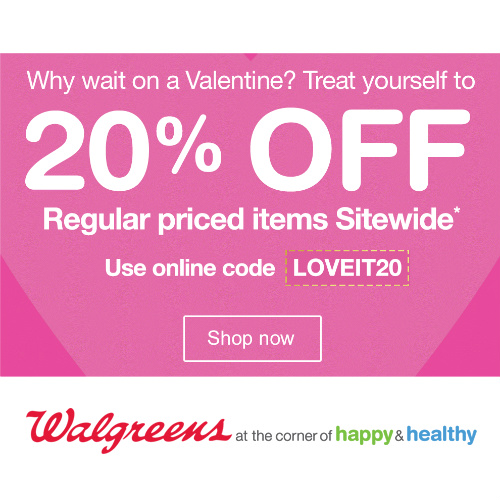 Walgreens : 20% off Regular Price items