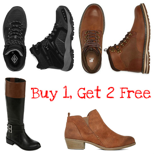 JCPenney : Buy 1 Pair of Boots, Get 2 More Pairs Free
