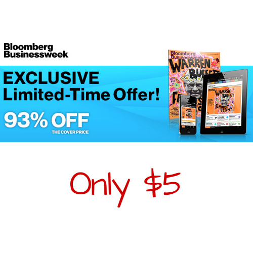 93% off Bloomberg Businessweek Subscription : Only $5