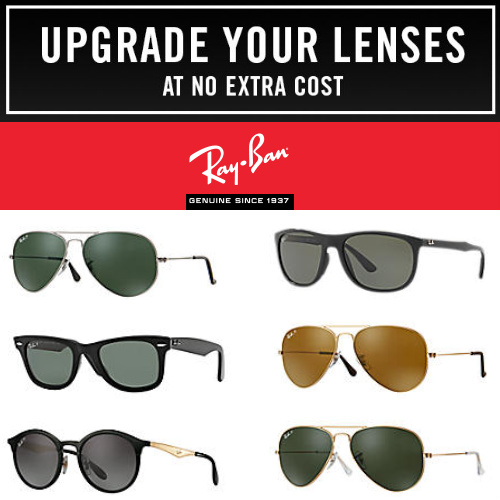 Ray-Ban Sunglasses Sale : Free Lens Upgrade (save up to $50) + Free S/H