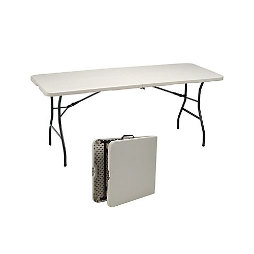 50% off 6′ Folding Banquet Table : $39.99 + Free S/H