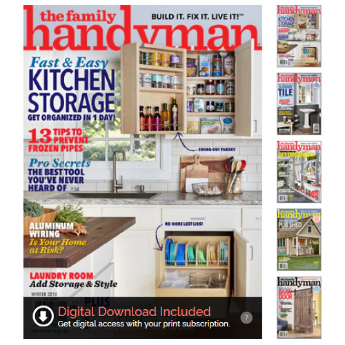 65% off Family Handyman Magazine Subscription : Only $6.99