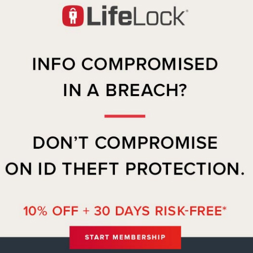 LifeLock Coupon : 10% off Your First Year