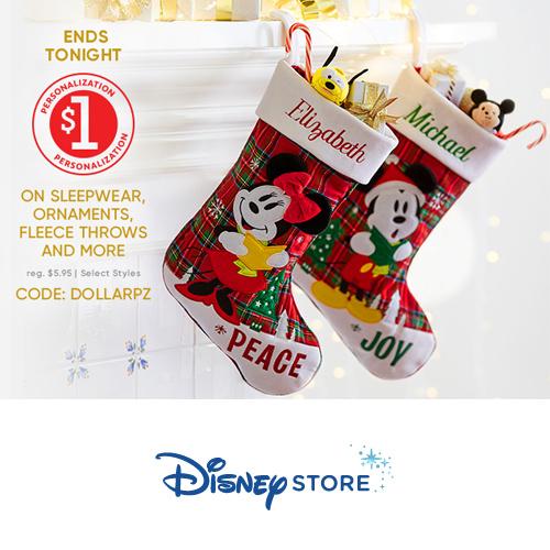 Disney Store : $1 Personalization