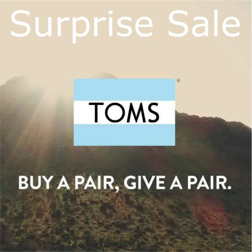 TOMS Surprise Sale : Up to 74% off