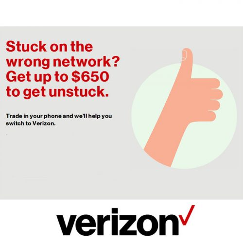 Verizon Wireless : Up to $650 for Switching!