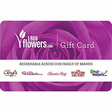 $50 1-800-Flowers Gift Card : $39.99 + Free S/H