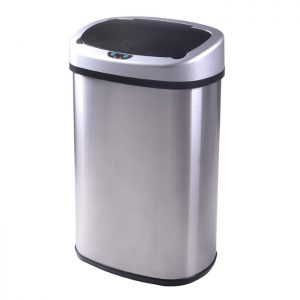 Touchless-Stainless-Steel-Trash-Can