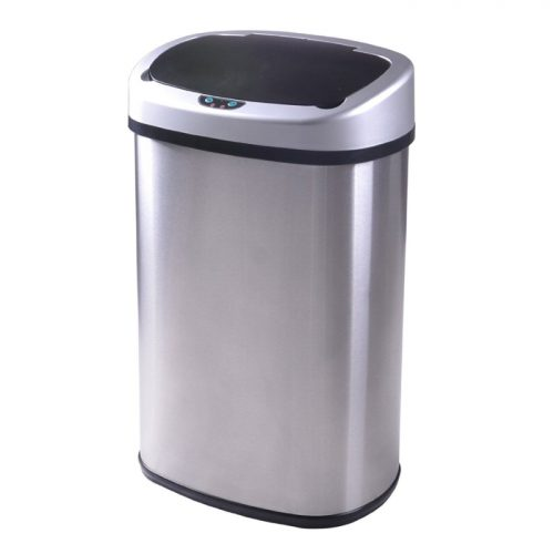 66% off Touch-Free Stainless-Steel Kitchen Trash Can : $32 + Free S/H
