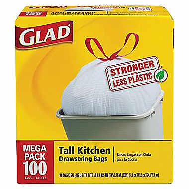 "100-Pk of Glad Kitchen Trash <span class=""search-everything-highlight-color"" style=""background-color:orange"">Bags</span> : $9.99"