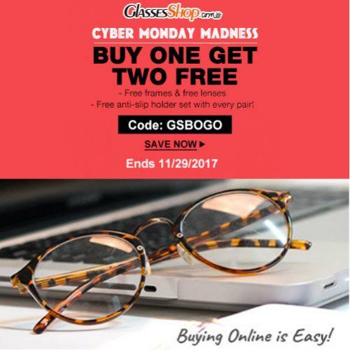 GlassesShop : Buy 1 Pair of Glasses, Get 2 More Pairs Free