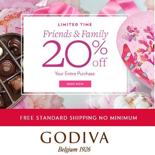 Godiva : 20% off + Free S/H