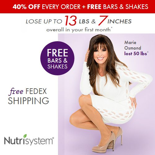 Nutrisystem : 40% off + Free Gifts + Free S/H