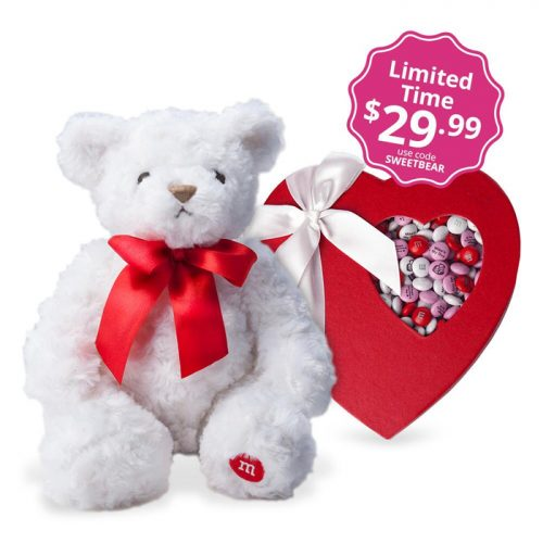 Personalized M&M's Valentine Bear : $39.98 Shipped