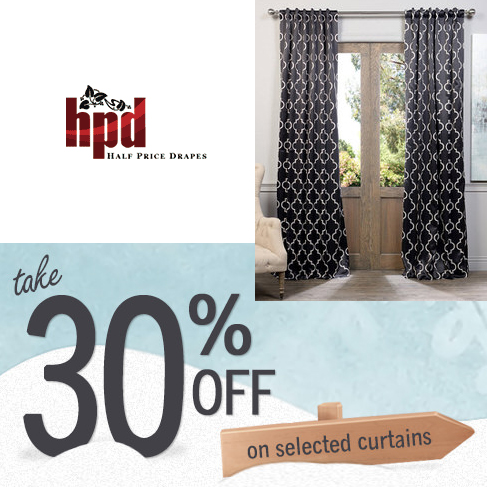 Half Price Drapes : Extra 30% off Select items
