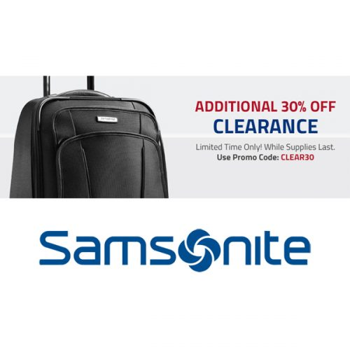 Samsonite : Extra 30% off Clearance