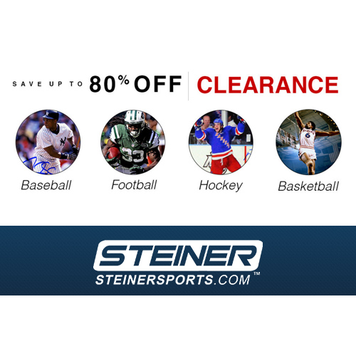 Steiner Sports : Free S/H on any order