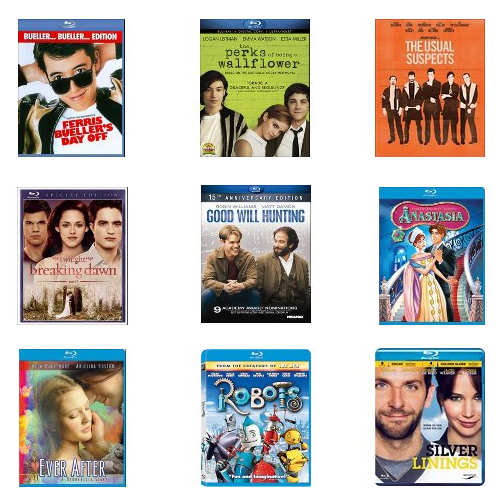 Blu-ray Movies : Only $4.50